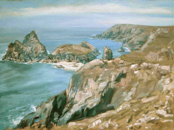 "Kynance Cove, Lizard Peninsular 1. 12"" x 16"" (30 x 40 cms)"