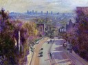 "Towards the City from Archway Bridge. 12"" x 16"" (30 x 40 cms)"